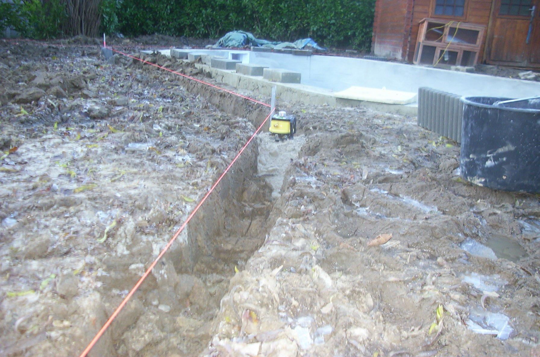 17 la mise en place des bordures dans le jardin la for Construction piscine 17