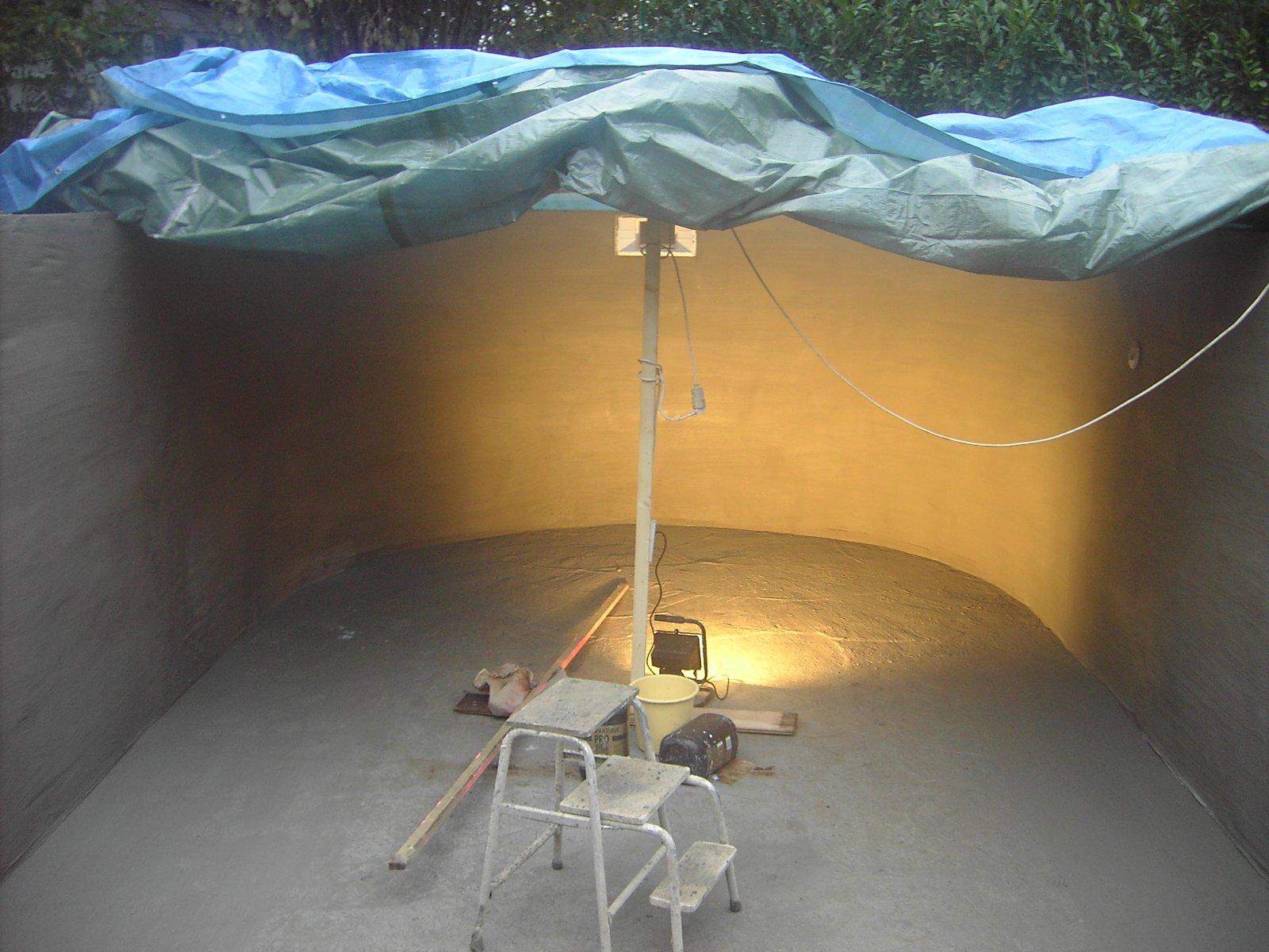 16 les enduits la construction de notre piscine - Enduit hydrofuge piscine ...